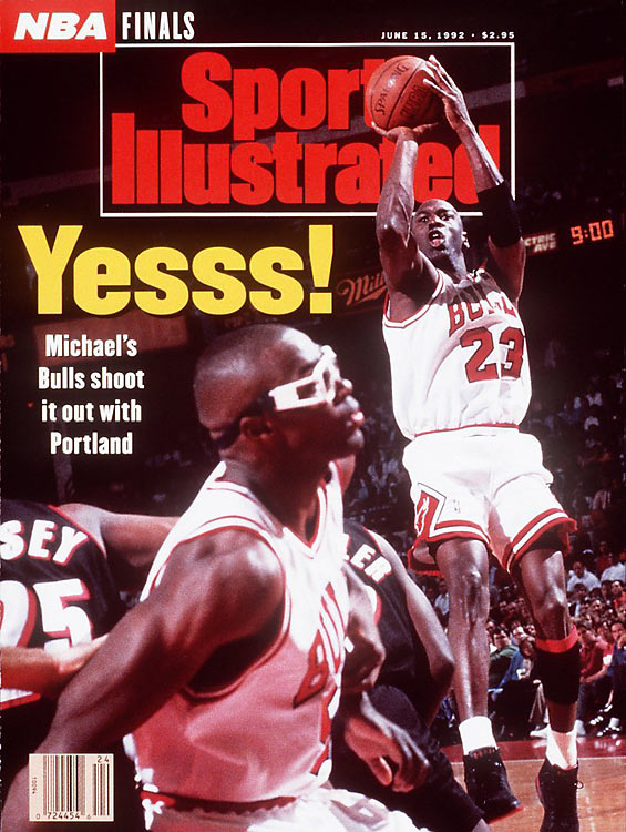 Michael Jordan covers SI during the 1992 NBA Finals (source: cnnsi.com)