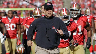 49ers Coach - Jim Harbaugh (Source: gridironfans.com)