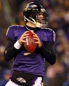 Ravens QB Joe Flacco took Baltimore within a dropped pass of Super Bowl XLVI.  He will try to direct the 2012 Ravens to Super Bowl XLVII.  (Source: zimbio.com)