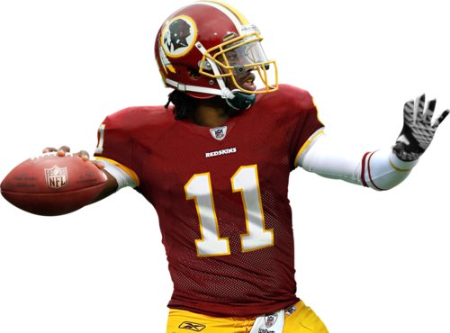 Robert Griffin III of the Redskins is the new Young Gun in the NFC East.  (Source: guysnation.com)