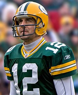 Packers QB Aaron Rodgers Source: wikipedia.org