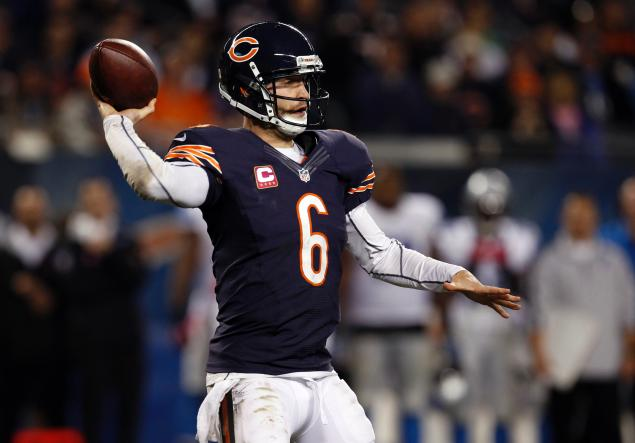Jay Cutler's had a strong season for Chicago, but even another win in Detroit on Sunday (which would be their 10th) may not be enough to get the Bears into the Postseason.Source: nydailynews.com