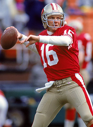 Joe Montana, one of the Super Bowl's all-time Top Performers, had his chance to flourish at the Superdome in Super Bowl XXIV.Source: sportscoma.com